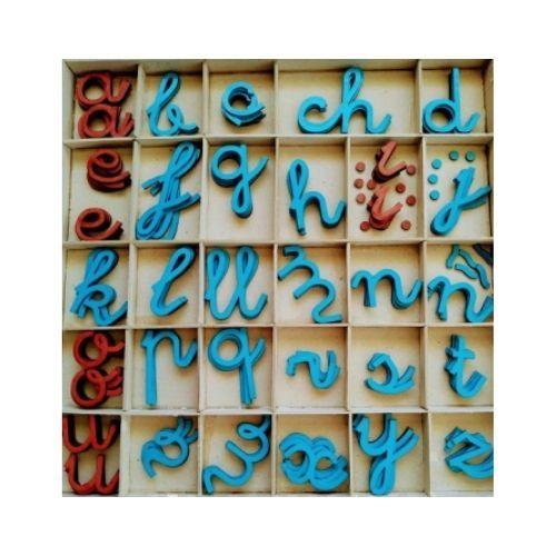 alfabeto movil montessori cursiva