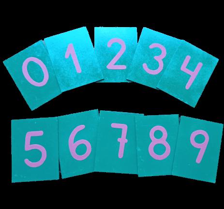 numeros de lija montessori