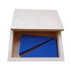 trinagulos azules montessori